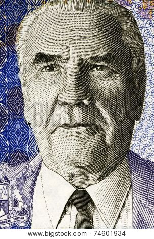 MAURITIUS - CIRCA 2009: Joseph Maurice Paturau on 50 Rupees 2009 Banknote from Mauritius.