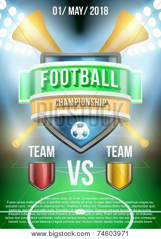Background for posters soccer football stadium announcement. Vector
