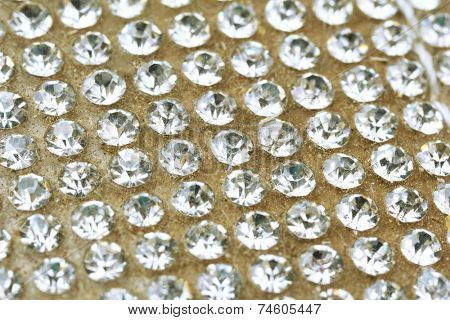 Close-up of rhinestones