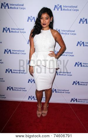 LOS ANGELES - OCT 23:  Chloe Flower at the International Medical Corps 2014 Annual Awards Celebration at Beverly Wilshire Hotel on October 23, 2014 in Beverly Hills, CA
