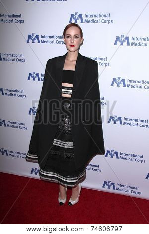 LOS ANGELES - OCT 23:  Jena Malone at the International Medical Corps 2014 Annual Awards Celebration at Beverly Wilshire Hotel on October 23, 2014 in Beverly Hills, CA