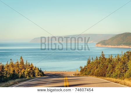 Cabot Trail Highway  In Fall