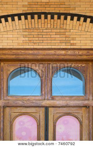 Wood Door With Windows
