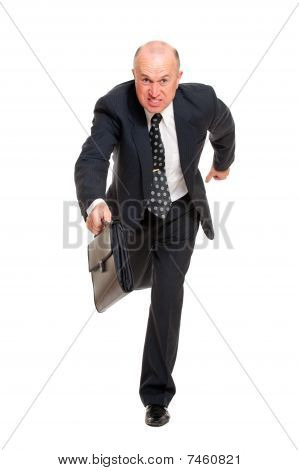 Businessman Hurrying To Job