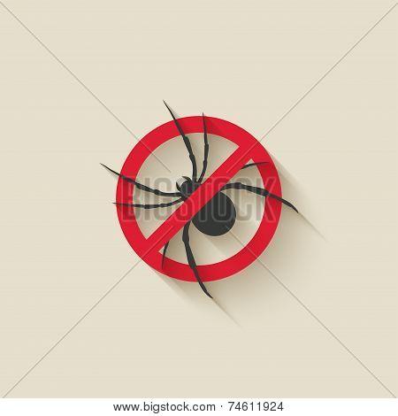 spider warning sign