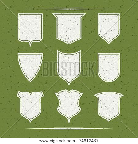 Set Of Nine Different Forms Of Shields