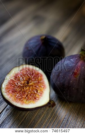 Ripe sweet figs.