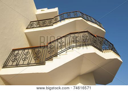 Staircase On Outside Of Building