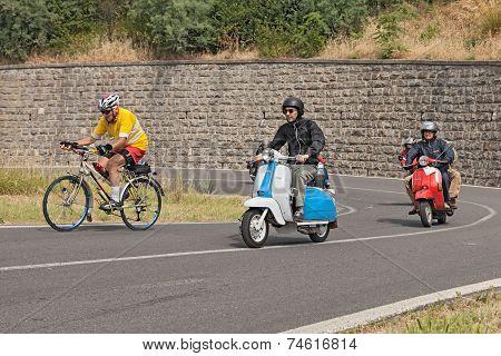 Vintage Italian Scooters Lambretta And Vespa
