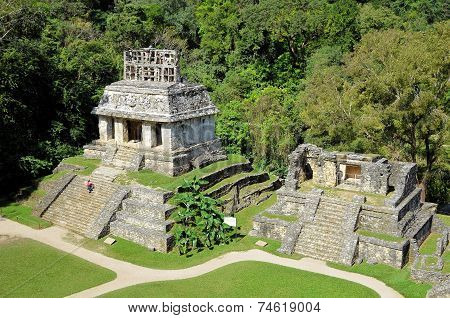 Palenque Ancient Mayan Ruined Temples