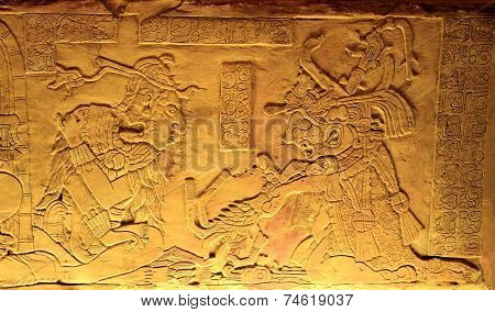 King Pakal In Ancient Mayan Ruins Of Palenque. Chiapas, Mexico.