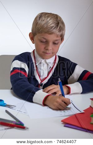 Hardworking Young Student