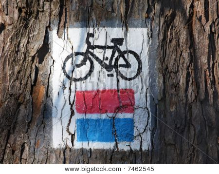 bicycle track sign