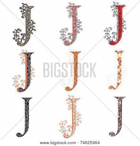Various Combination Fishnet Letter J.