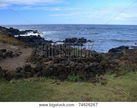 Wild Volcanic Southwest Coast Of Easter Island
