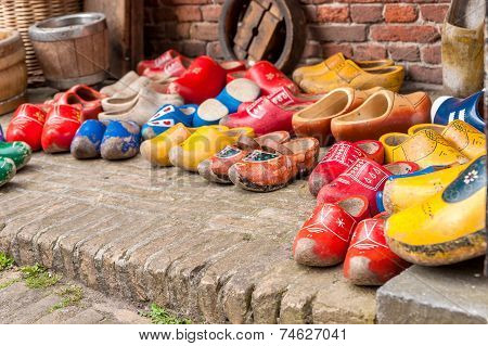 Typical Dutch Wooden Shoes