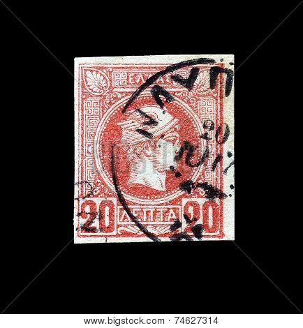 God Hermes stamp 1888