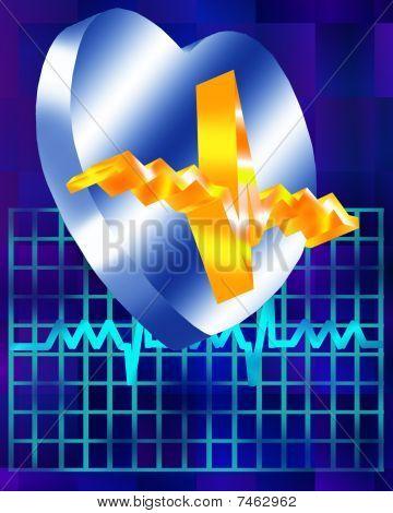 Metallic Heart and Monitor