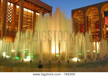Fountains Outside The Lincoln Center, New York