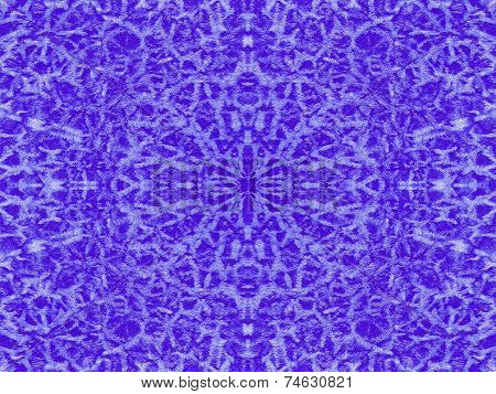 Cold Blue Kaleidoscope Pattern
