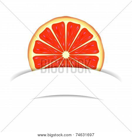 Grapefruit with paper banner
