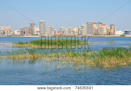 Novo-Savinovsky City District. Kazanka river. The city of Kazan. The Republic of Tatarstan. Russian