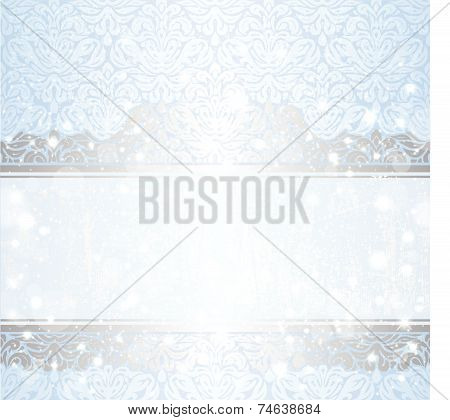 Shiny blue vintage christmas card background
