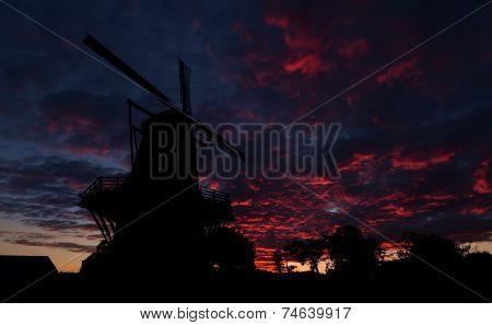 Dawn Sky Windmill