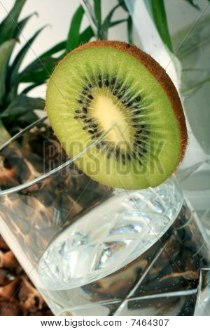 Kiwi With Mineral Water