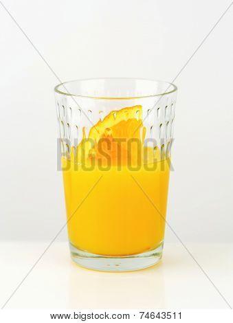 Glass of orange juice - studio shot