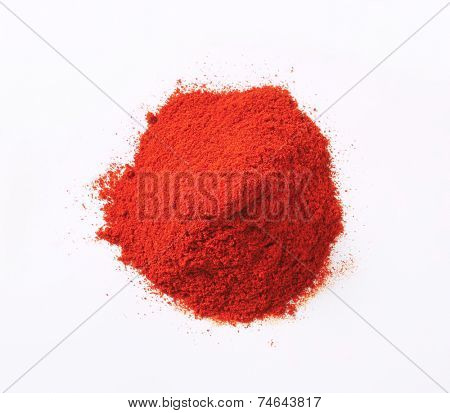 Heap of red paprika powder