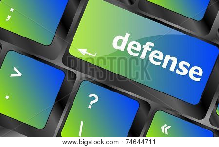 Computer Keyboard Keys With Word Defense