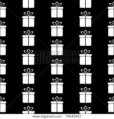 Gift Icon Seamless Pattern