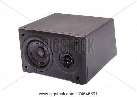 Aside Photo Of Black  Audio Speaker