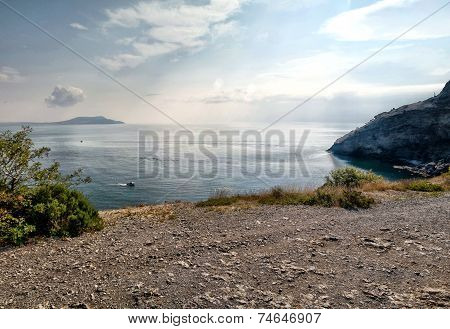 Crimea Mountains And Black Sea Landscape