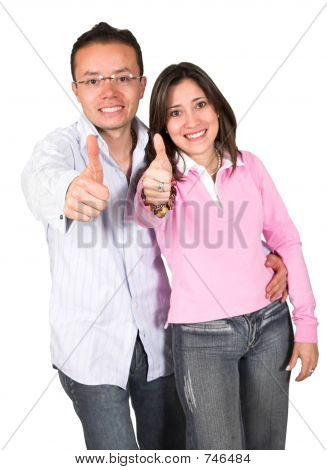 Couple With A Positive Attitude