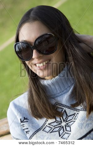 Cute girl with sunglasses