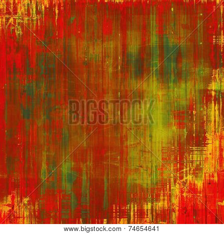 Rough vintage texture. With different color patterns: brown, red, orange, green