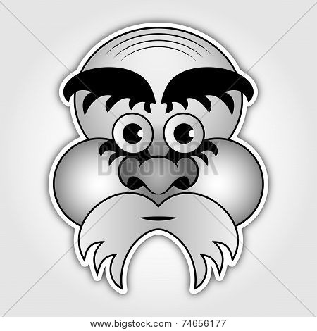 Sticker - Old Man With A Beard And Eyebrows