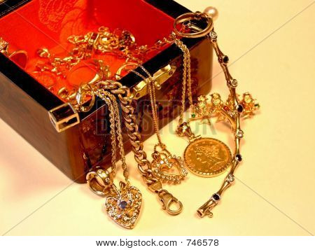 Decorative Box with Jewelry