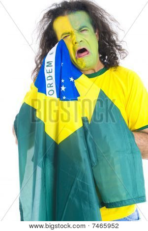 Sad Brazilian Supporter