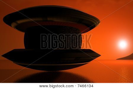 UFO at Sunrise