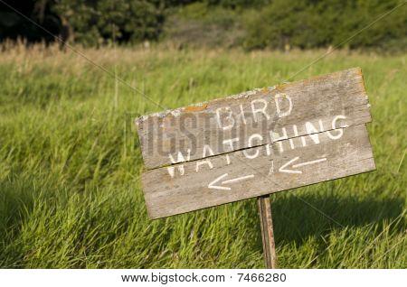 Bird Watching Sign