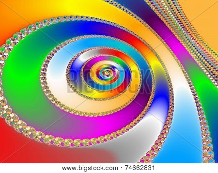 Colorful Fractal Backdrop
