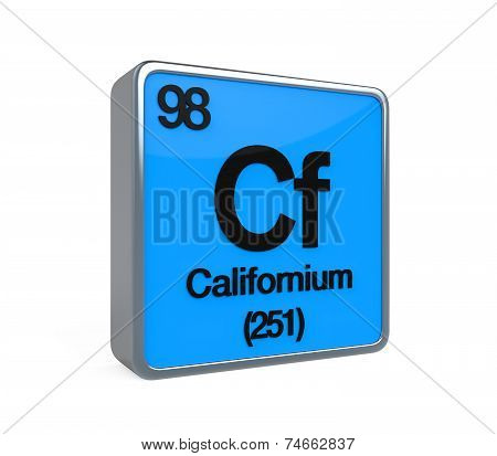 Californium Element Periodic Table