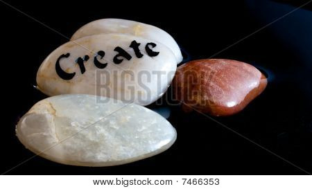 Closeup Zen Create Stones