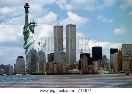 New York Harbor tribute to 911