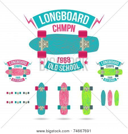 Longboard Emblem