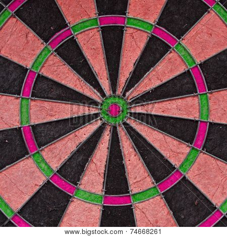 Close-up Of A Very Old Unique Dartboard