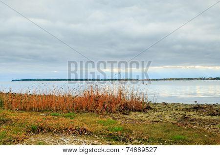 Shoreline, ocean and cloudscape on Gotland, Sweden